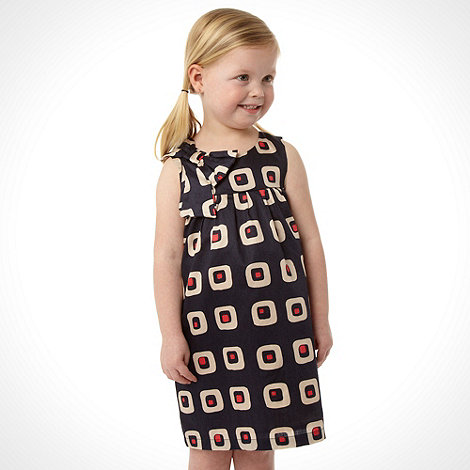 J by Jasper Conran - Designer girl+s navy geo bow dress