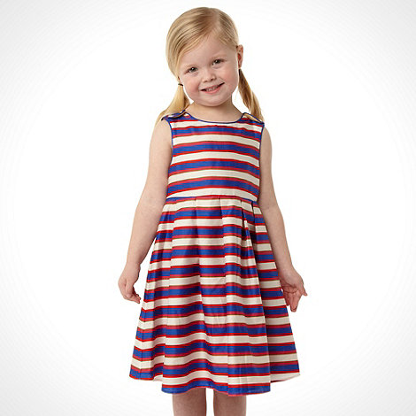 J by Jasper Conran - Designer girl+s royal blue striped dress