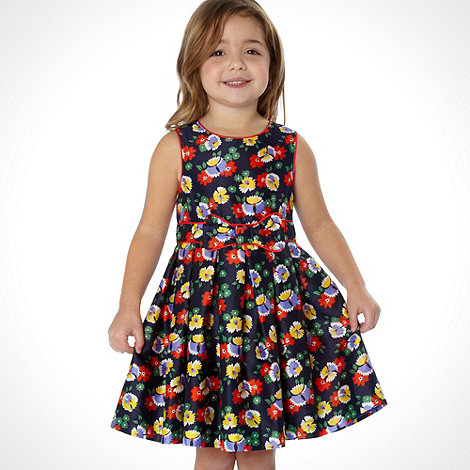 J by Jasper Conran - Designer girl+s multi floral dress