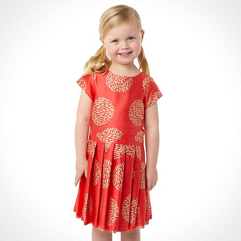 J by Jasper Conran - Designer girl+s dark peach circle dress