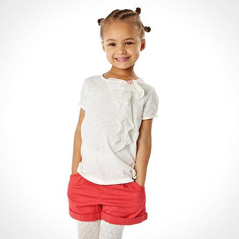 J by Jasper Conran - Designer girl+s off white 3d bow top