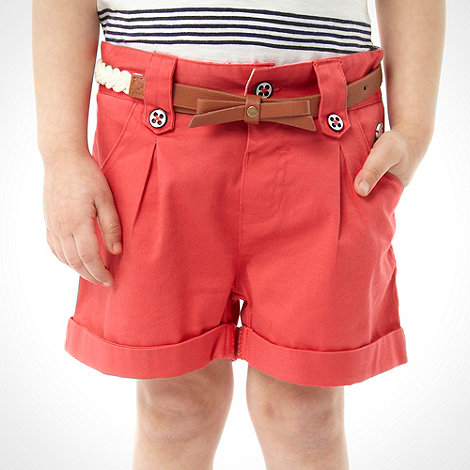 J by Jasper Conran - Designer girl+s red shorts