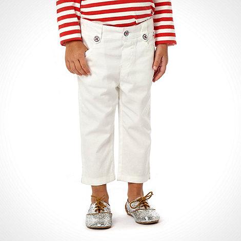 J by Jasper Conran - Designer girl+s white cropped trousers