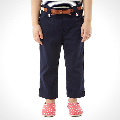 J by Jasper Conran - Designer girl+s navy cropped trousers