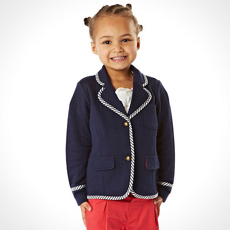 J by Jasper Conran - Designer girl+s navy jersey blazer