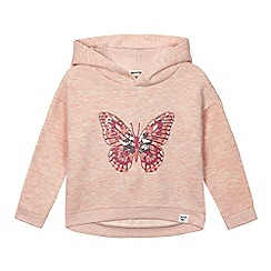 Mantaray - Girls' pink sequinned butterfly hoodie