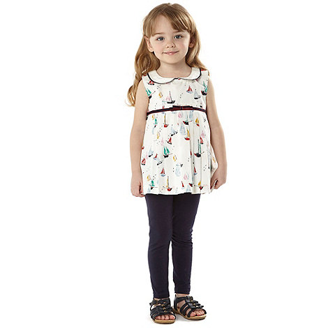 J by Jasper Conran - Designer girl+s white boat tunic and leggings