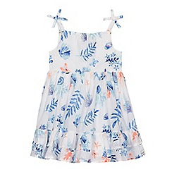 Mantaray - Girls' blue printed dress