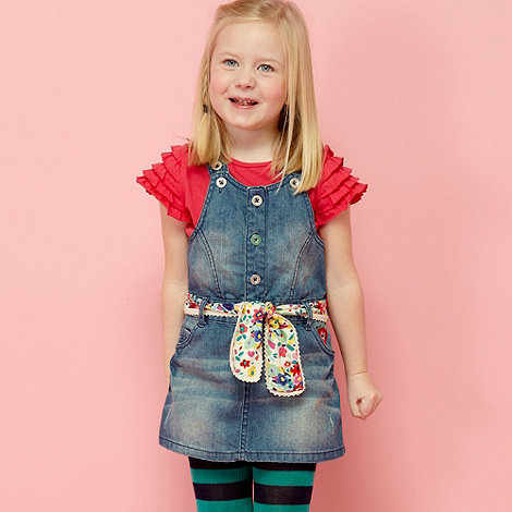 RJR.John Rocha - Designer girl+s blue dungaree, top and tights set