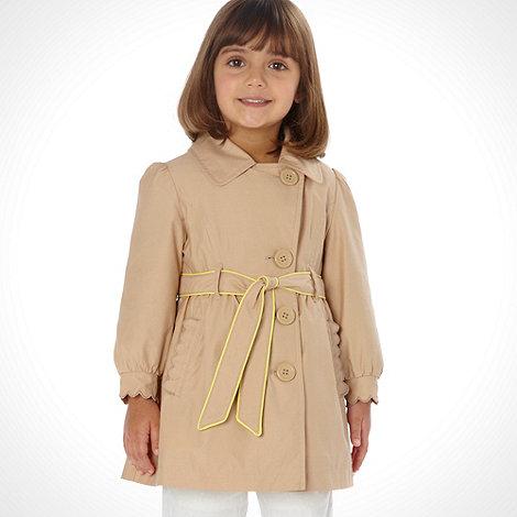 RJR.John Rocha - Designer girl+s stone trench jacket
