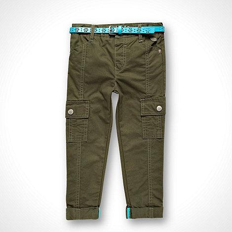RJR.John Rocha - Designer girl+s khaki slim cargo trousers