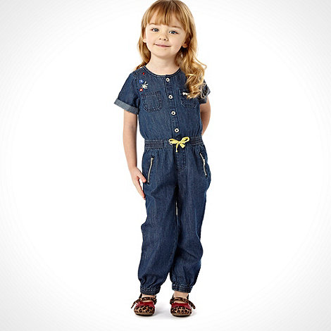 RJR.John Rocha - Designer girls blue embroidered boiler suit