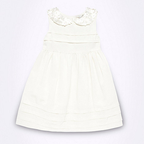 RJR.John Rocha - Designer girl+s off white flower collar dress