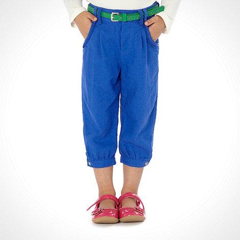 RJR.John Rocha - Designer girl+s blue cropped linen trousers