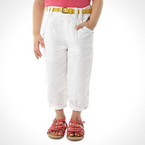 RJR.John Rocha - Designer girl+s white cropped linen trousers