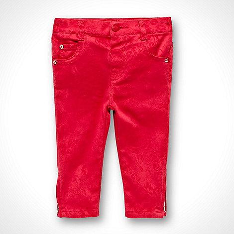 RJR.John Rocha - Designer girl+s dark pink jacquard jeans