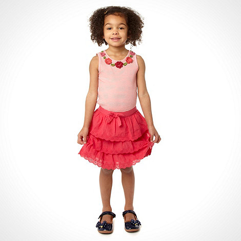 RJR.John Rocha - Girl+s multi vest and tiered skirt set