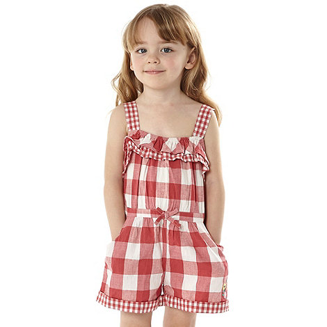RJR.John Rocha - Designer girl+s red gingham playsuit