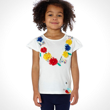 RJR.John Rocha - Designer girl+s white flower necklace top