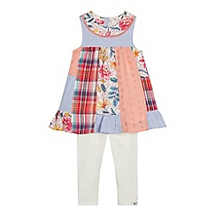 Mantaray - Girls' multi-coloured assorted print top and leggings set