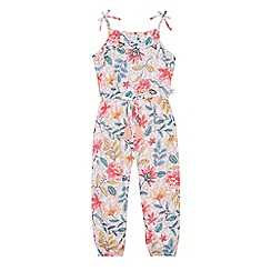 Mantaray - Girls' multi-coloured botanical print jumpsuit