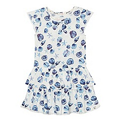 Mantaray - Girls' white seashell print dress