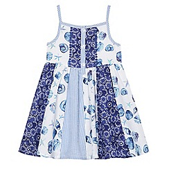 Mantaray - Girls' multi-coloured seashell print panel dress