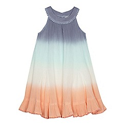 Mantaray - Girls' multi-coloured dip dye trapeze dress