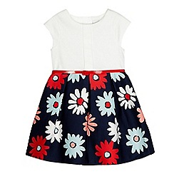 J by Jasper Conran - Girls' navy floral dress and belt