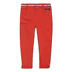 J by Jasper Conran - Girls' red skinny stretch jeans with belt