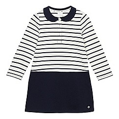 J by Jasper Conran - Girls' white and navy striped dress