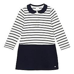 J by Jasper Conran - Girls' white and navy striped dress