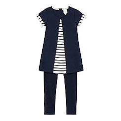 J by Jasper Conran - Girls' navy pleated front top and leggings set
