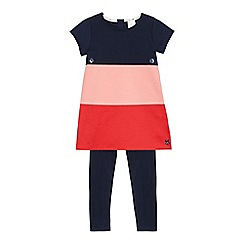 J by Jasper Conran - Girls' multi-coloured striped top and leggings set