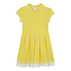 J by Jasper Conran - Girls' yellow tipped pique dress