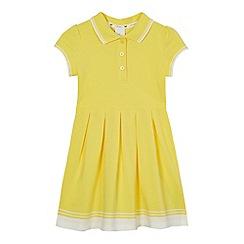 J by Jasper Conran - Girls' yellow tipped pique dress