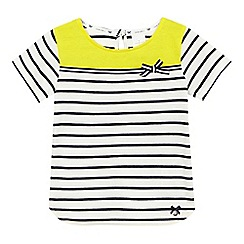 J by Jasper Conran - Girls' white striped colour block yoke top