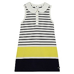 J by Jasper Conran - Girls' yellow stripe tennis dress
