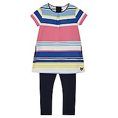 J by Jasper Conran - Girls' multi coloured striped print tunic and leggings set
