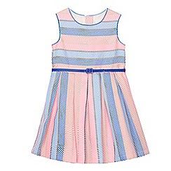 J by Jasper Conran - Girls' pink textured striped dress