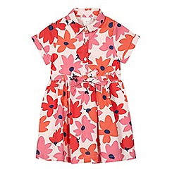 J by Jasper Conran - Girls' pink floral print shirt dress