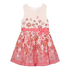 J by Jasper Conran - Girls' pink floral burnout dress