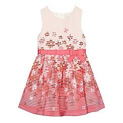 J by Jasper Conran - Girls' pink floral burnout dress