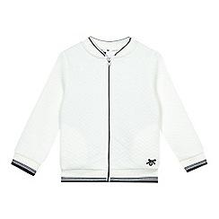 J by Jasper Conran - Girls' white textured jersey bomber jacket