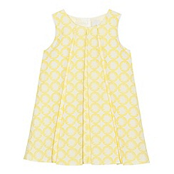 J by Jasper Conran - Girls' yellow pleated jacquard dress
