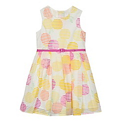 J by Jasper Conran - Girls' multi-coloured spotted print burnout dress