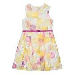 J by Jasper Conran - Girls' multi-coloured spotted print burnout dress