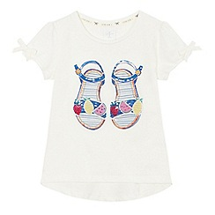 J by Jasper Conran - Girls' off white sandal print t-shirt
