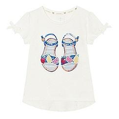 J by Jasper Conran - Girls' off white sandal print t-shirt