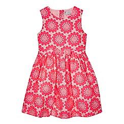 J by Jasper Conran - Girls' pink floral jacquard prom dress